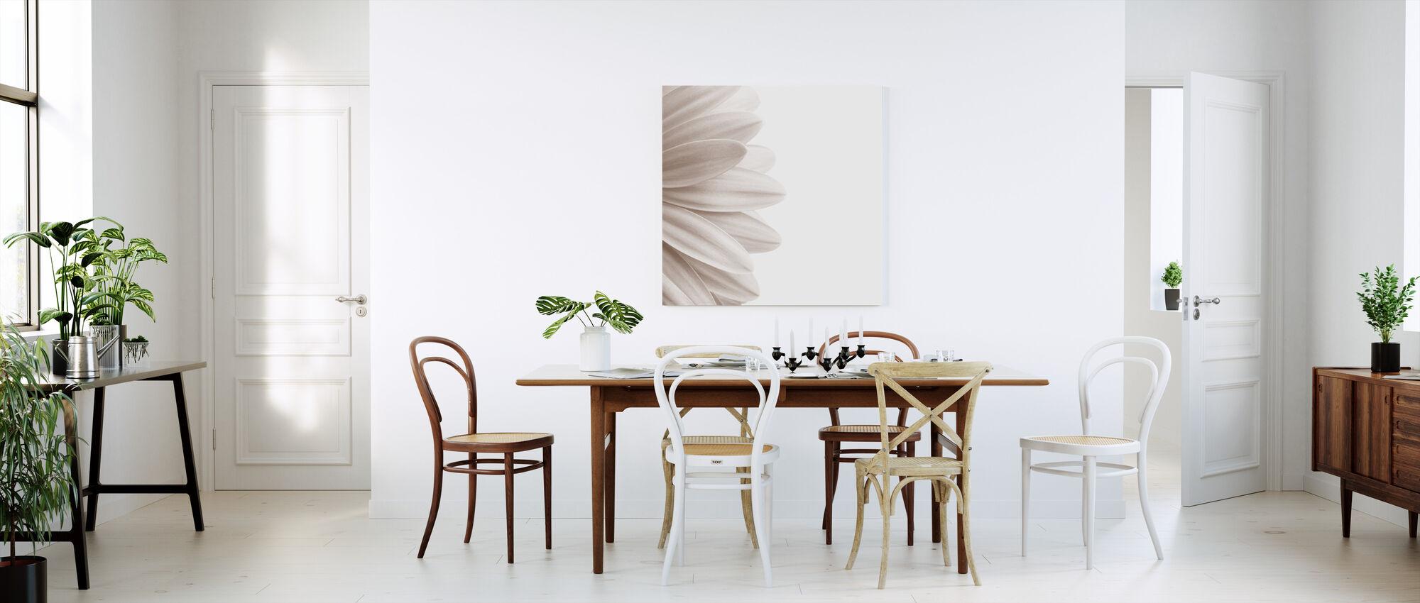 Pink Petal - Sepia - Canvas print - Kitchen