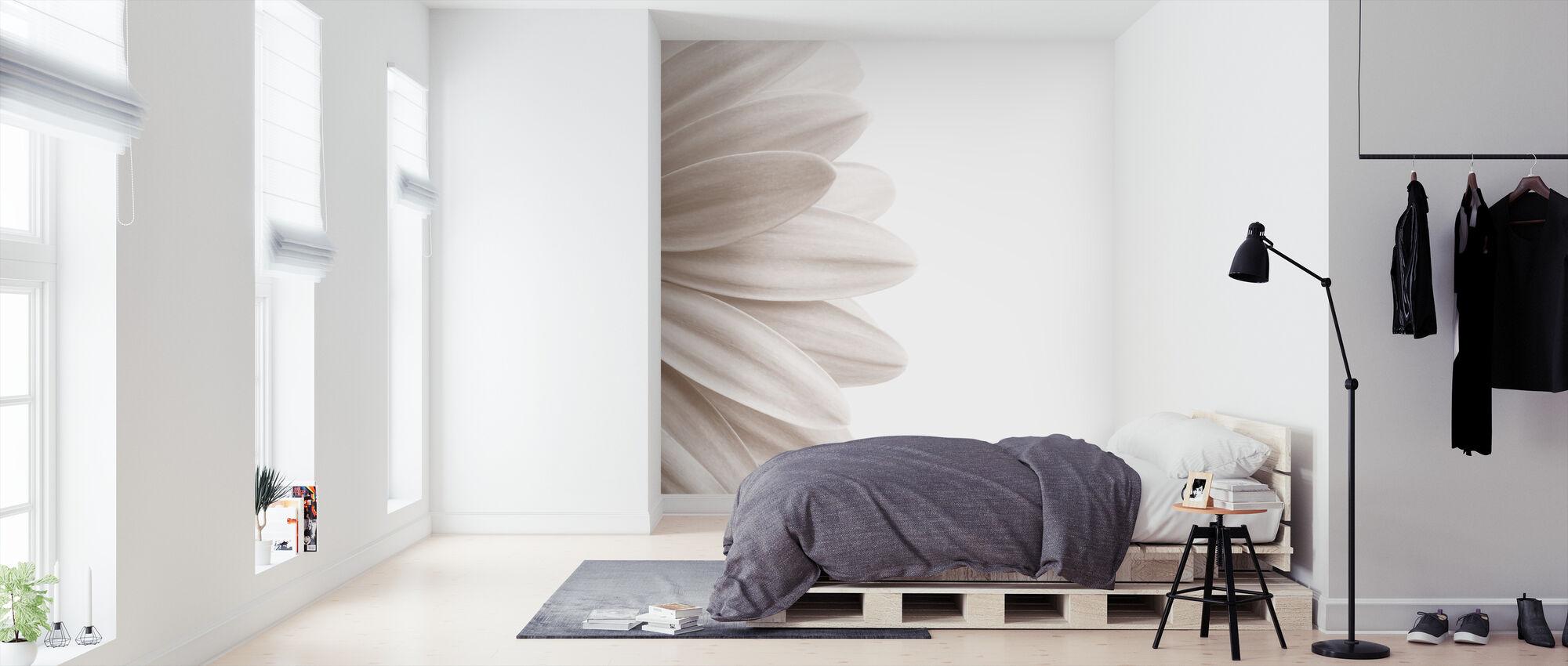 Pink Petal - Sepia - Wallpaper - Bedroom