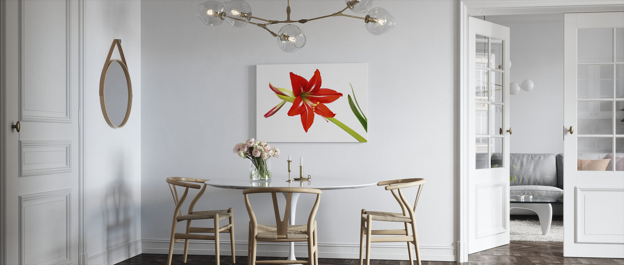 Red Lily - Canvas print - Kitchen