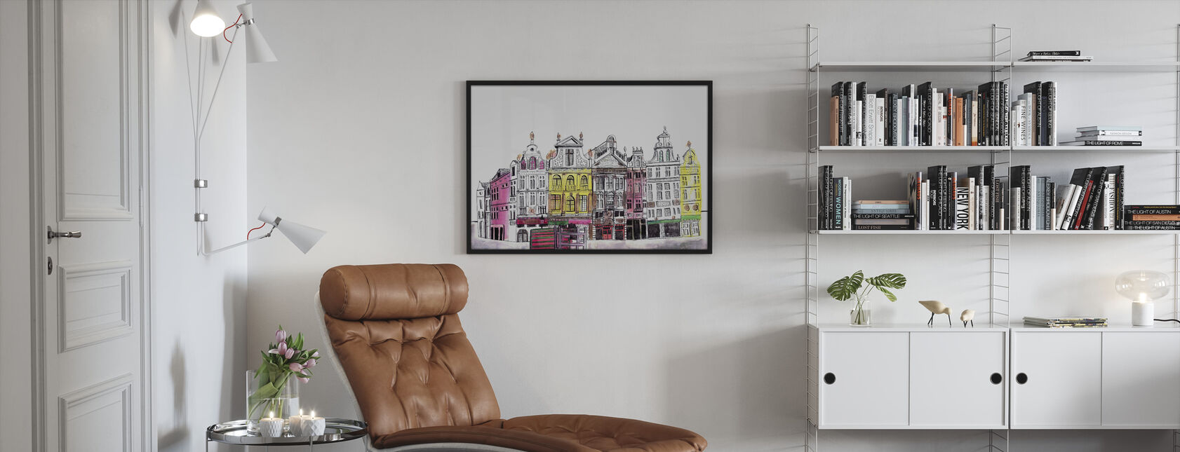 Brussels - Framed print - Living Room