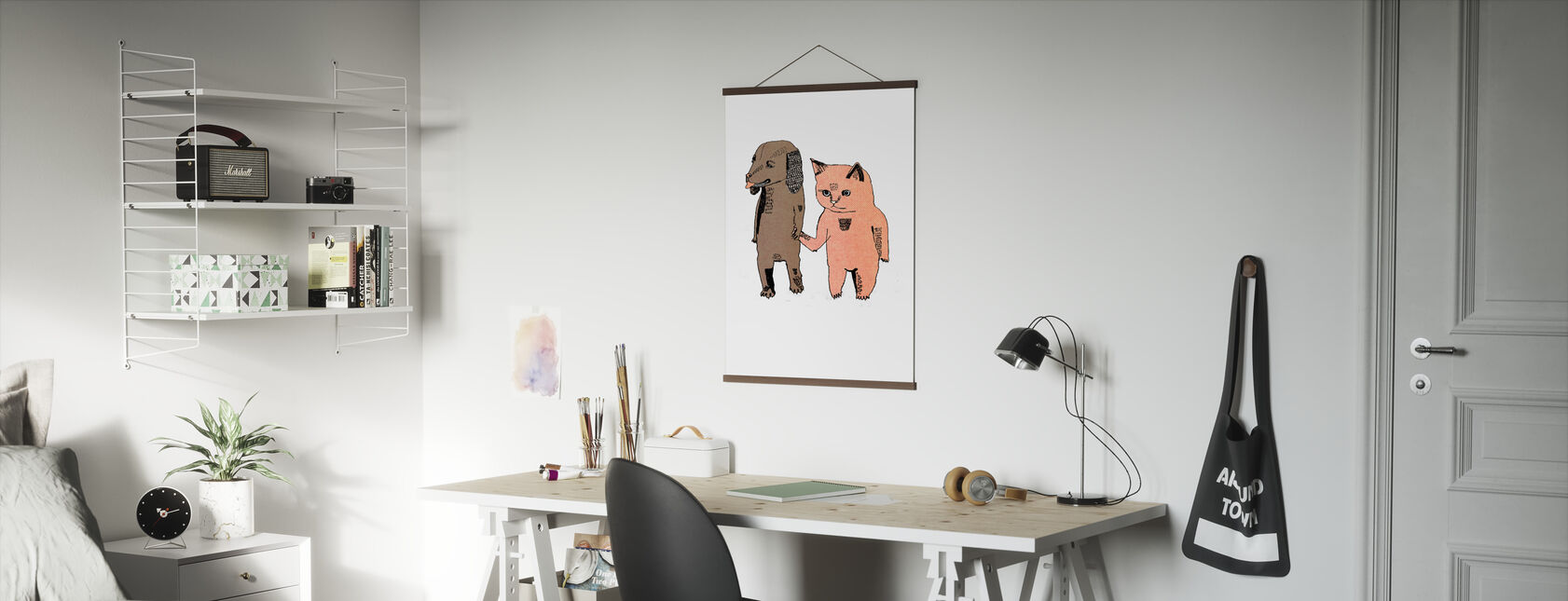 Cat and Dog - Poster - Office