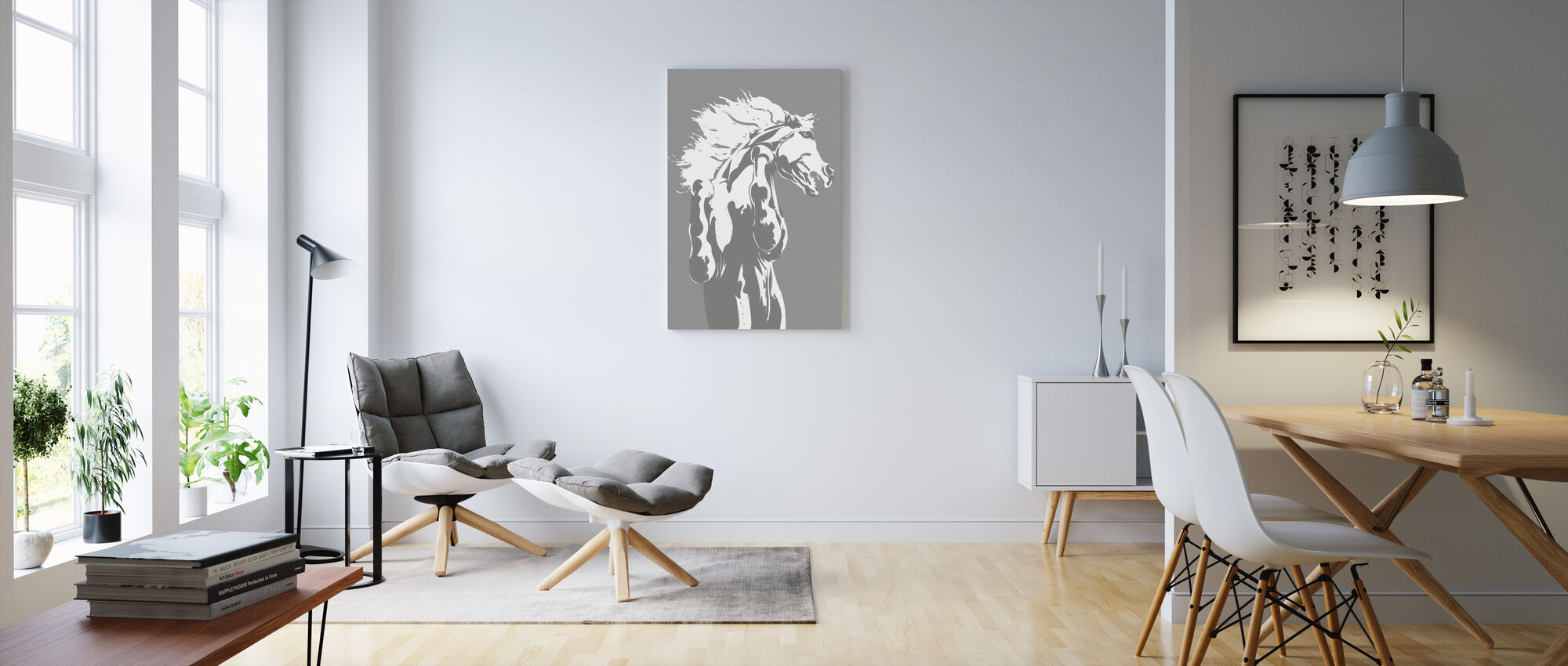 Never Tamed - Light Grey - Canvas print - Living Room