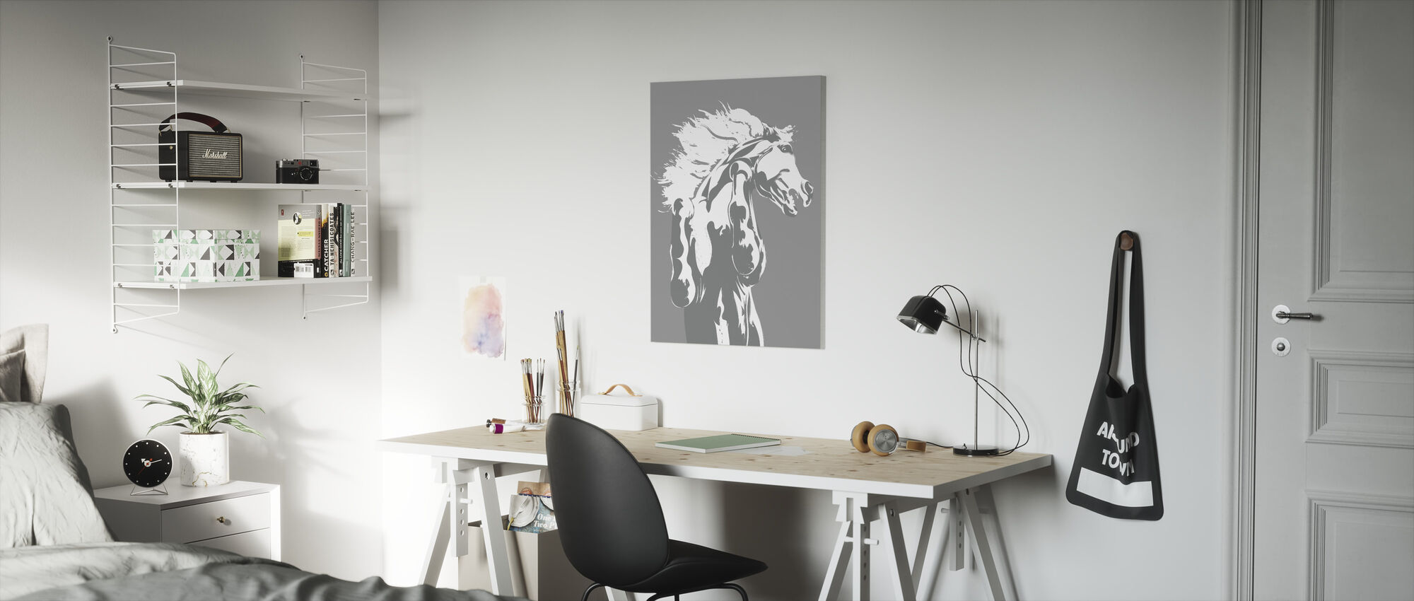 Never Tamed - Light Grey - Canvas print - Kids Room
