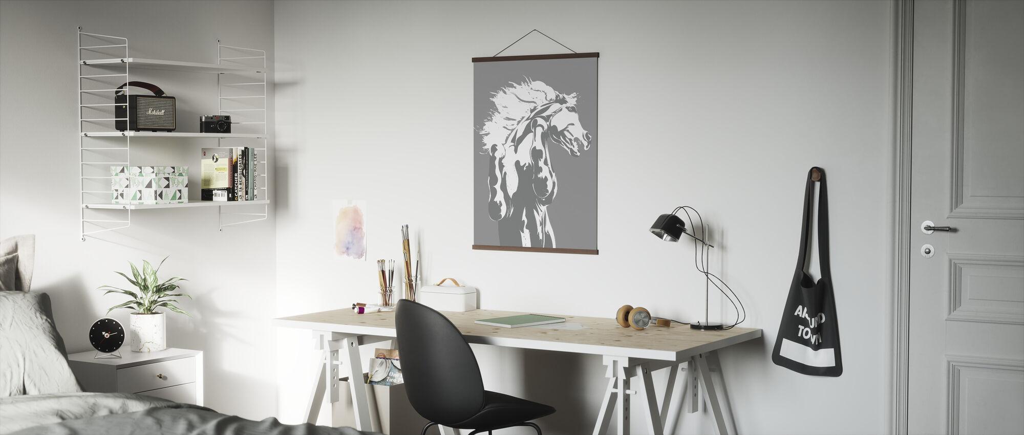 Never Tamed - Light Grey - Poster - Office