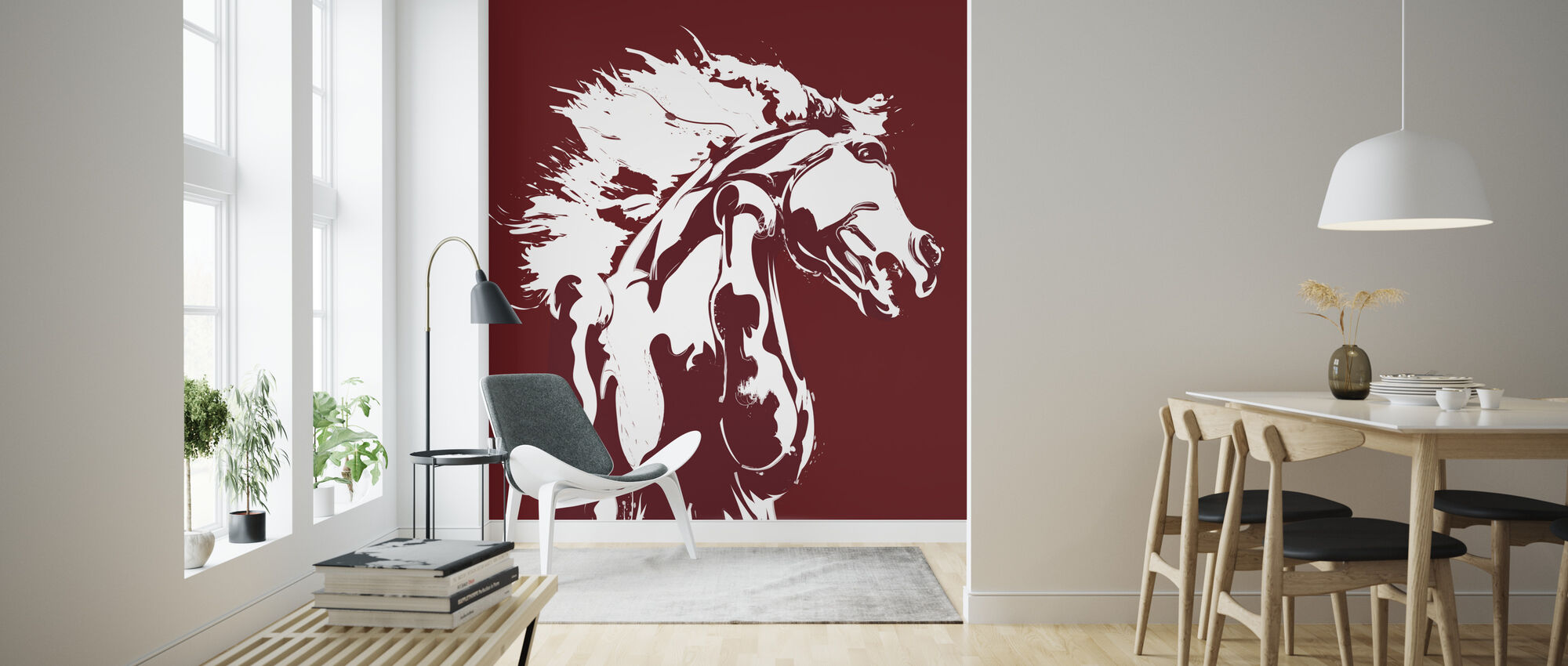 Never Tamed - Red - Wallpaper - Living Room