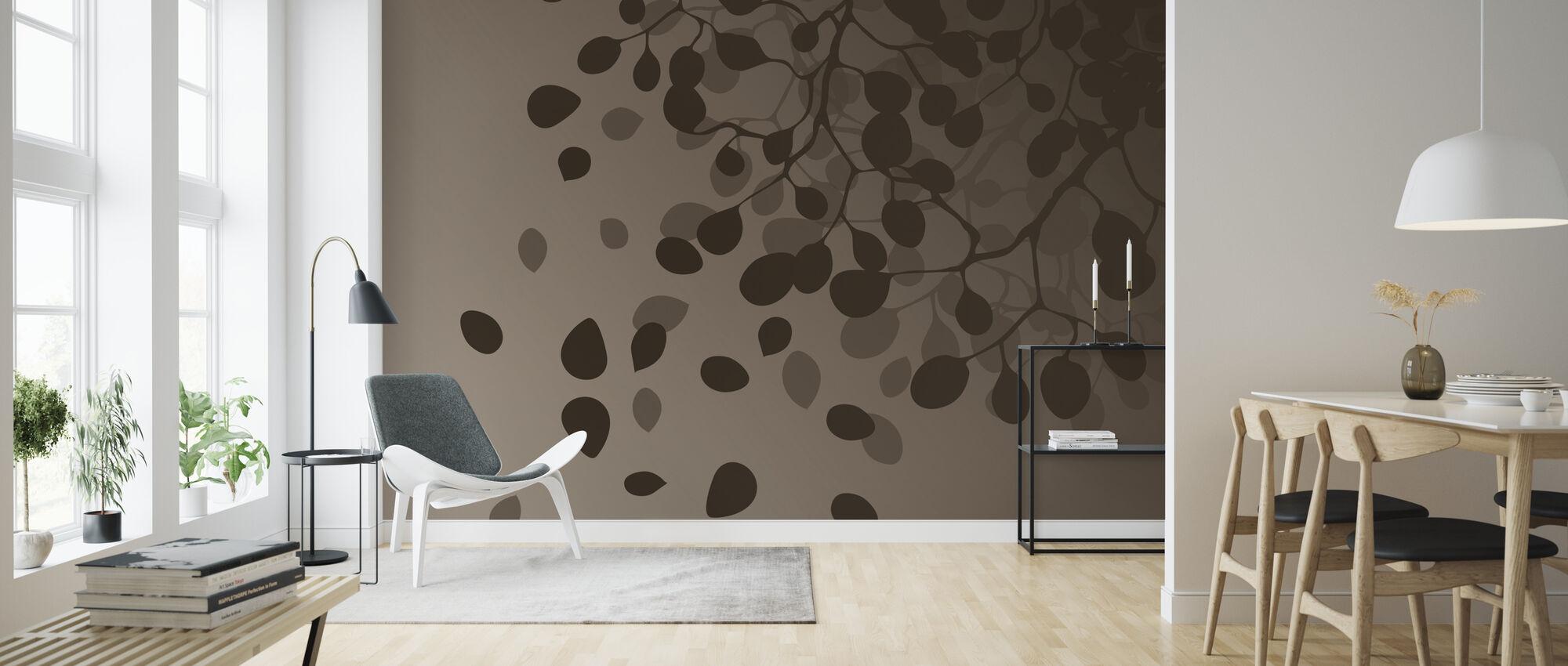 Birch - Fall - Wallpaper - Living Room