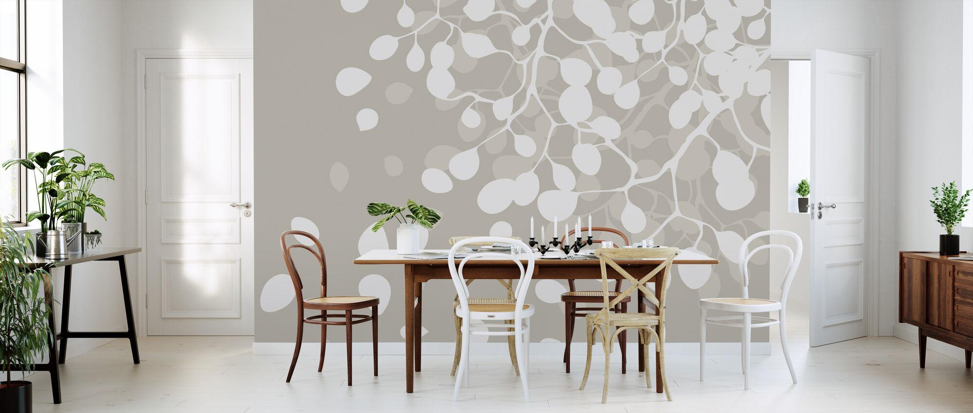 Birch - Snow - Wallpaper - Kitchen