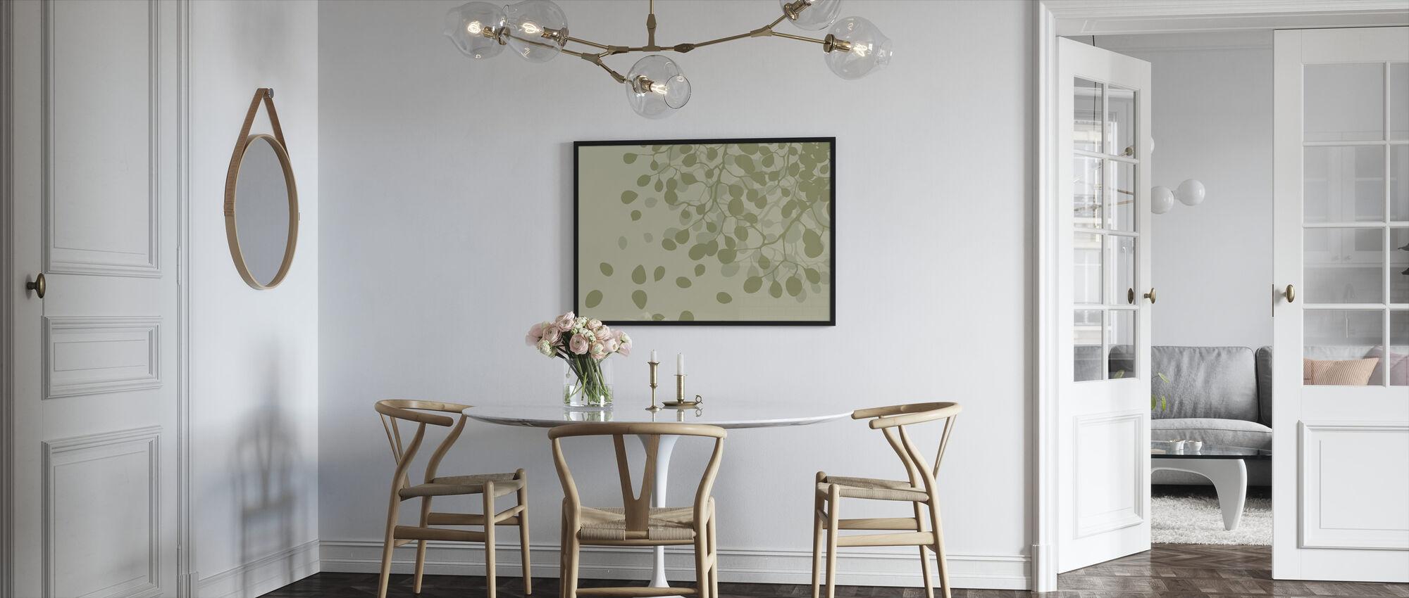 Bjørk - Våren - Innrammet bilde - Kjøkken