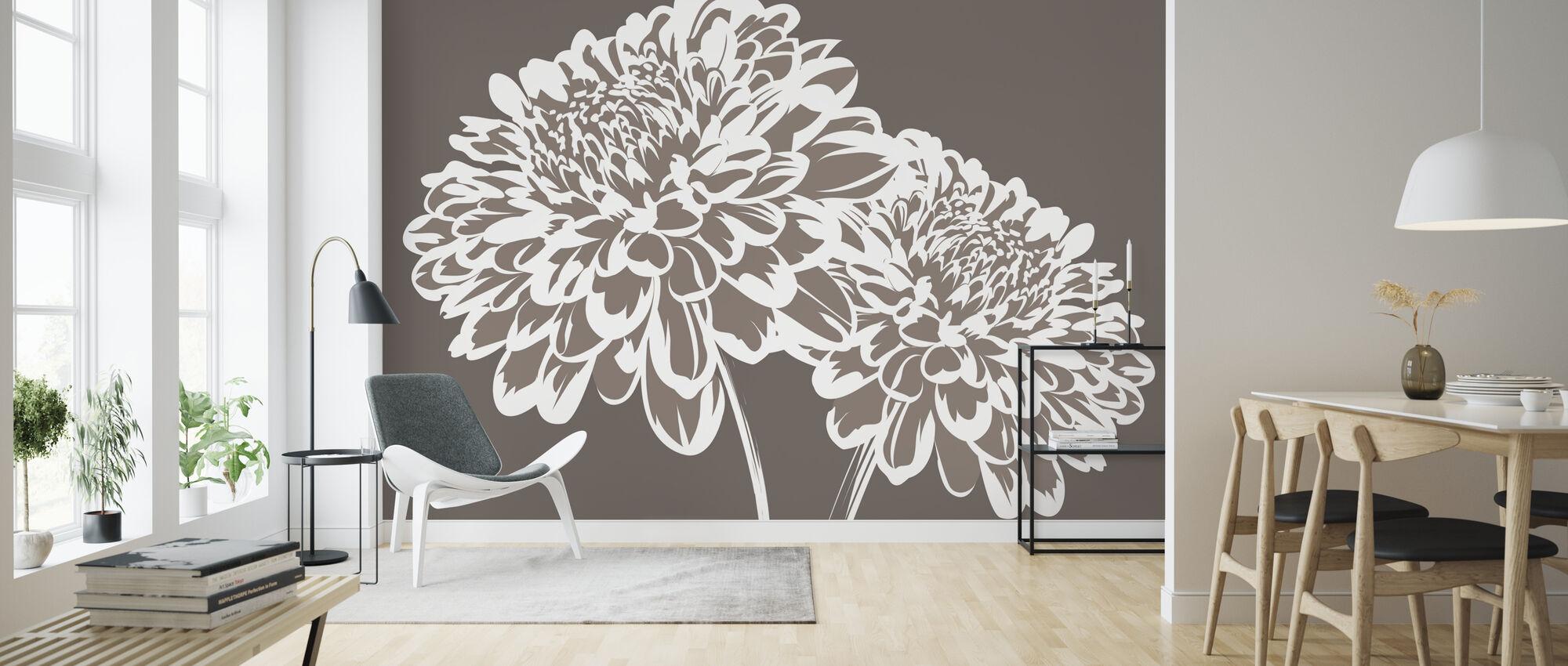 Blomma mitt Hjärta - Mullvad - Tapet - Vardagsrum
