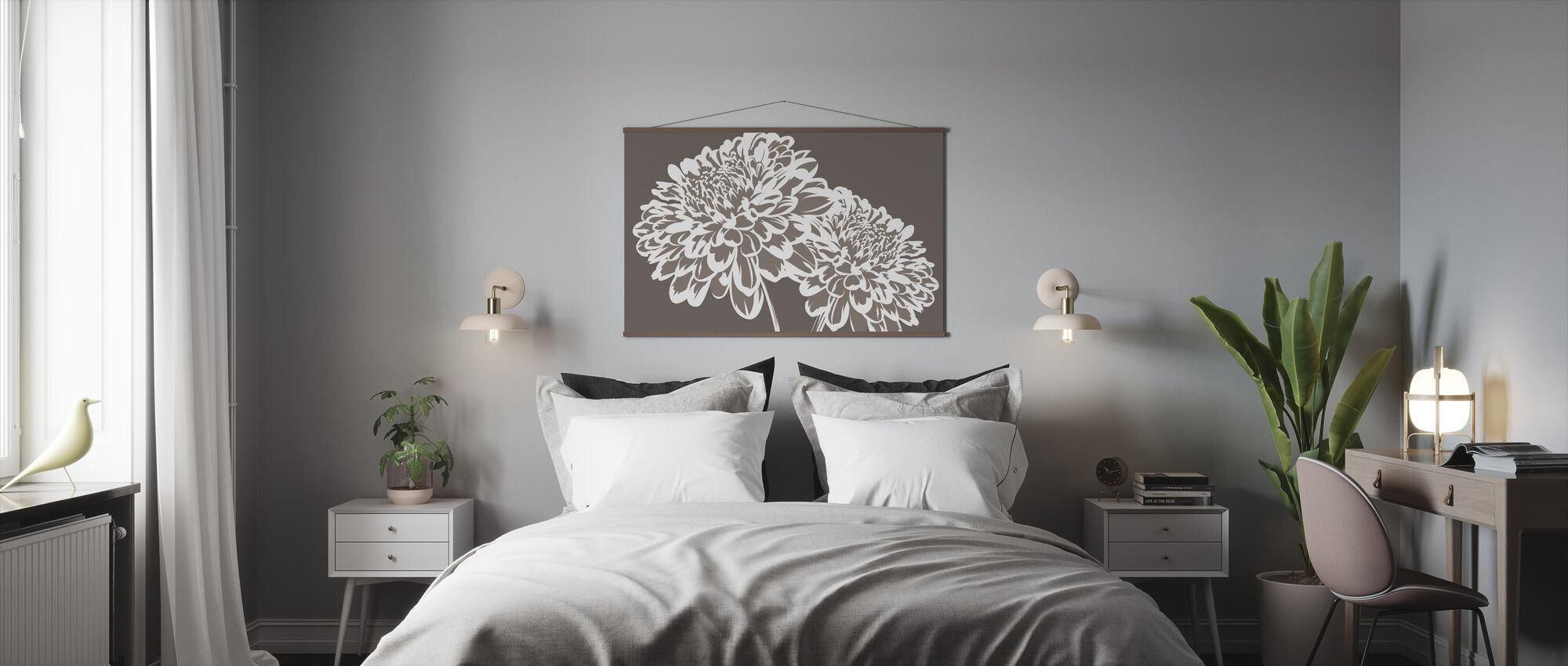 Blomma mitt Hjärta - Mullvad - Poster - Sovrum
