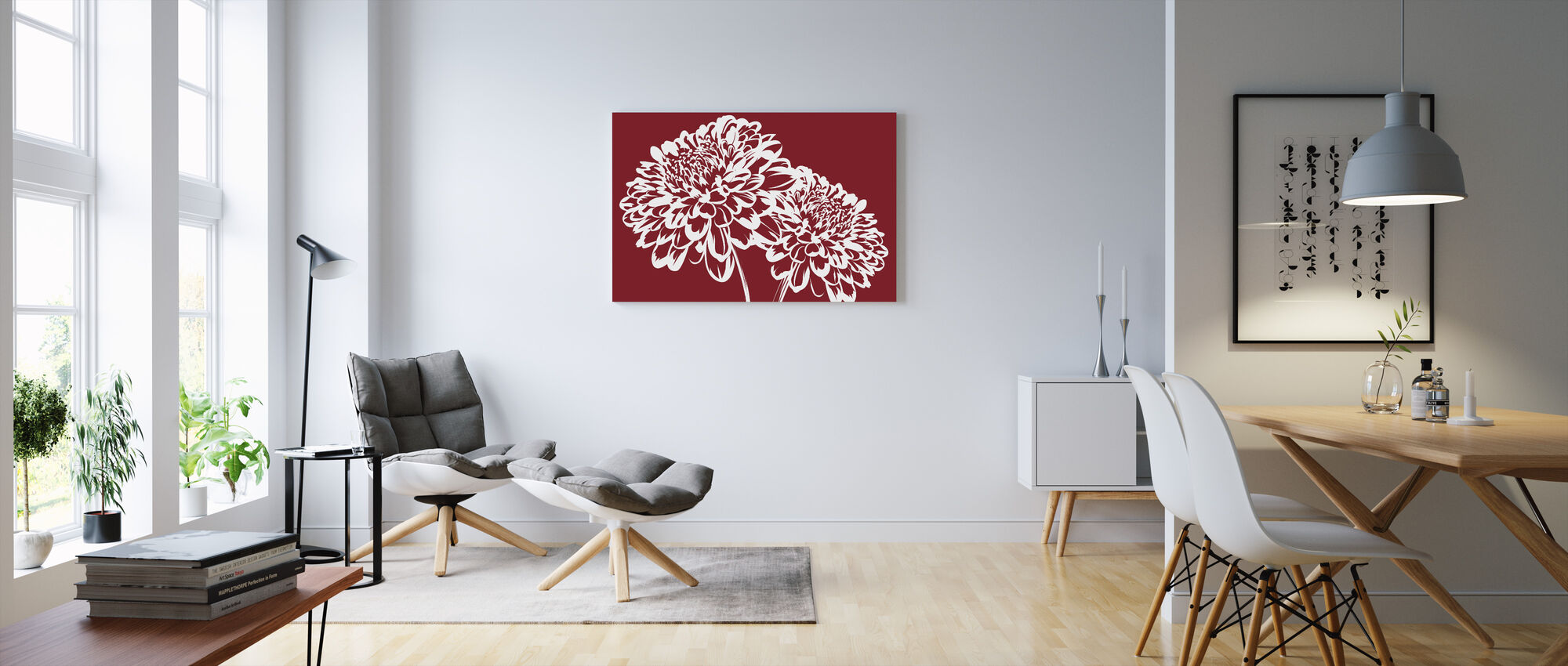 Blossom my Heart - Red - Canvas print - Living Room