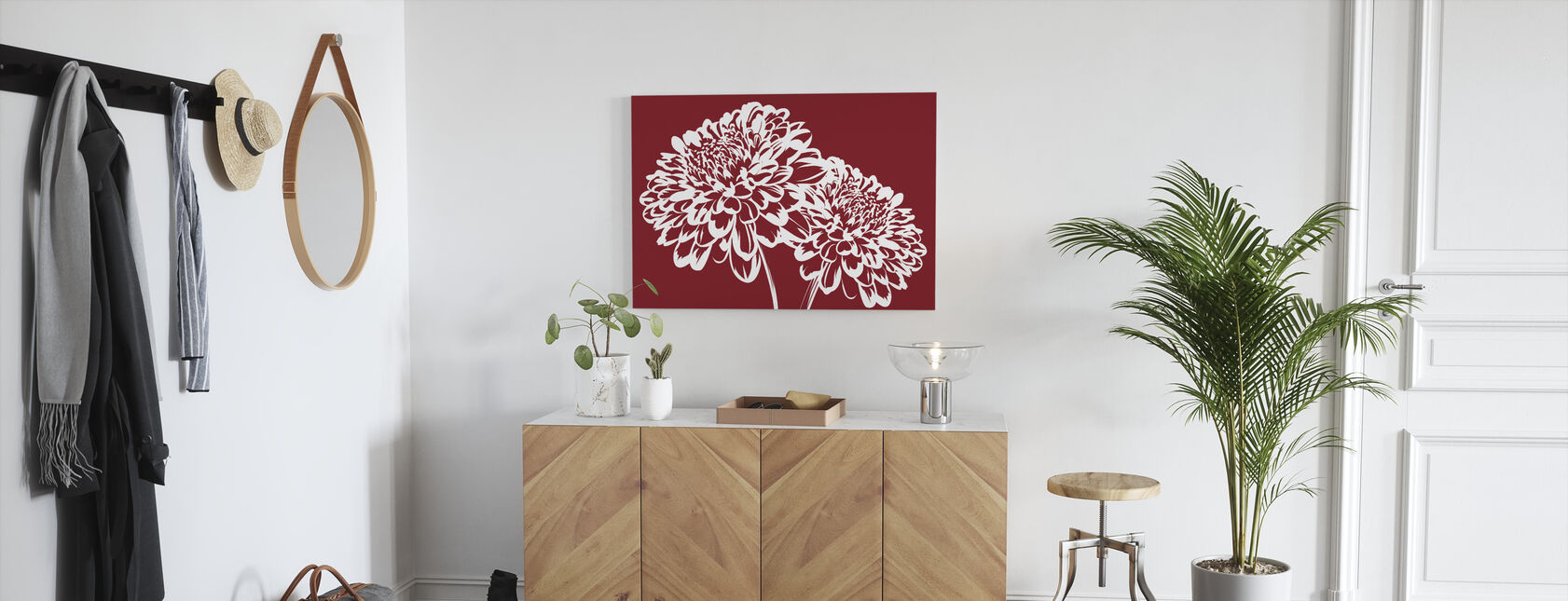Blossom my Heart - Red - Canvas print - Hallway