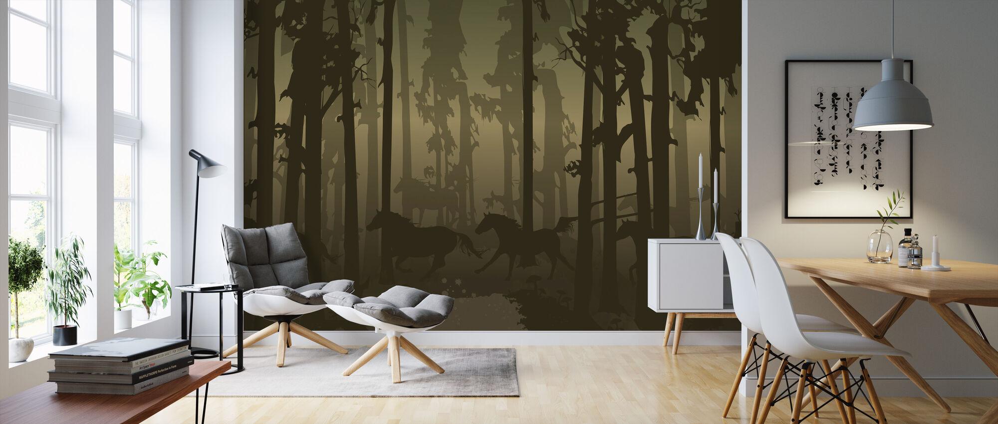 Neuer Wald - Tapete - Wohnzimmer