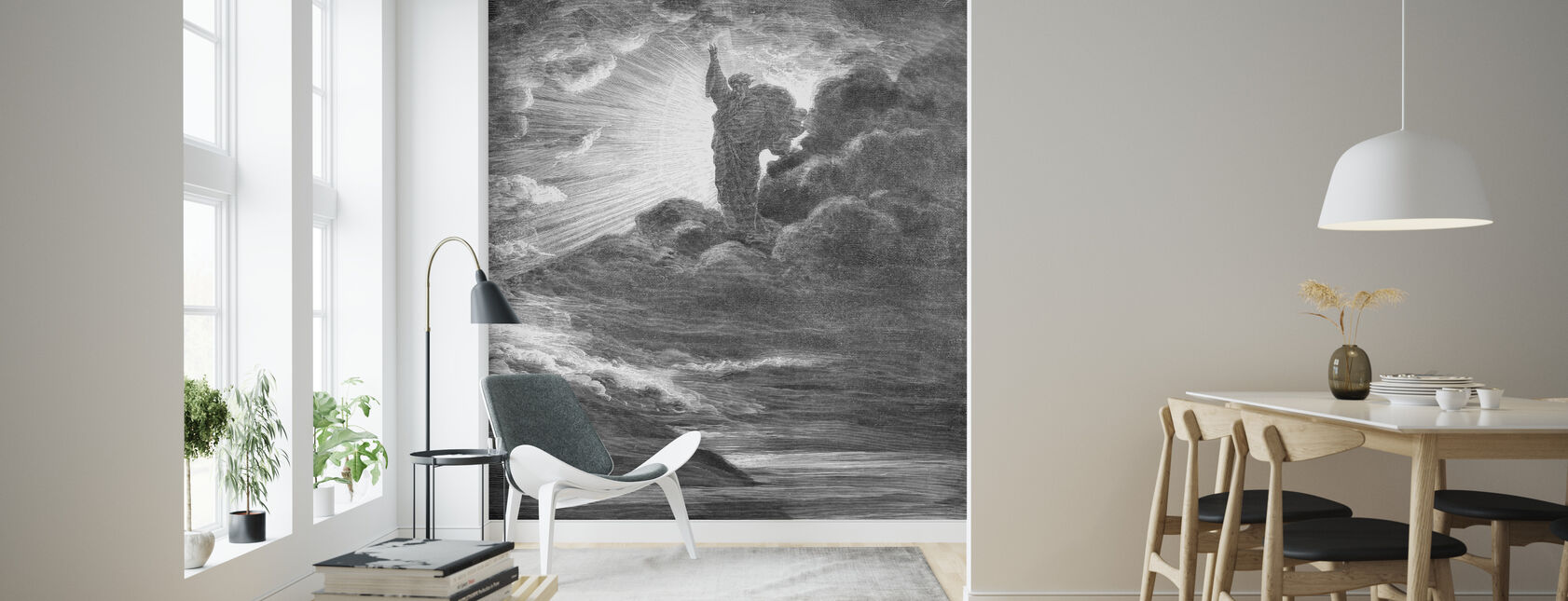 Skapelsen - Gustave Dore - Wallpaper - Living Room