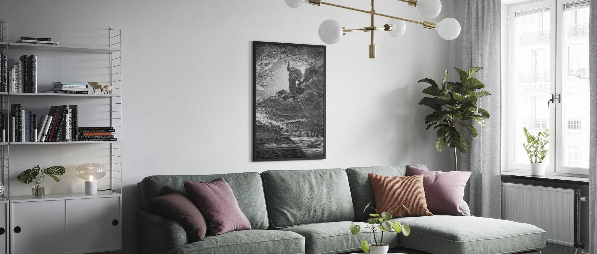 Skapelsen - Gustave Dore - Innrammet bilde - Stue