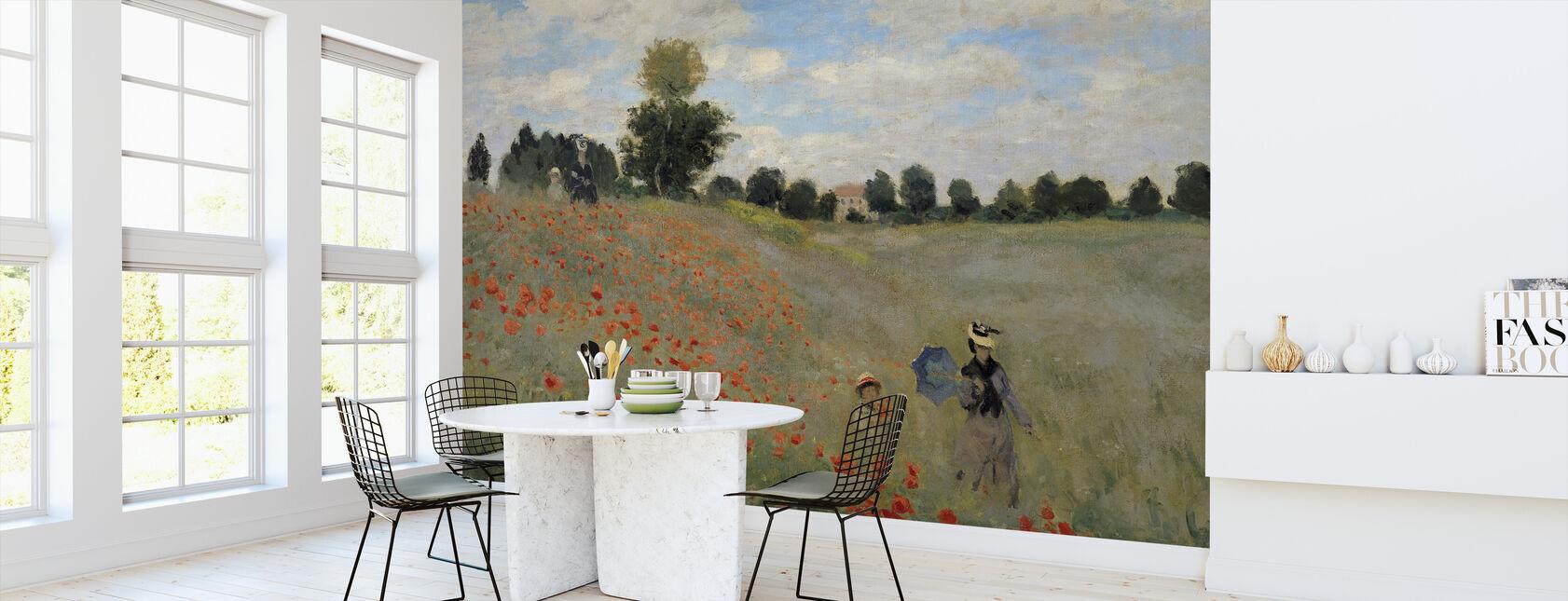 Wilde klaprozen - Claude Monet - Behang - Keuken