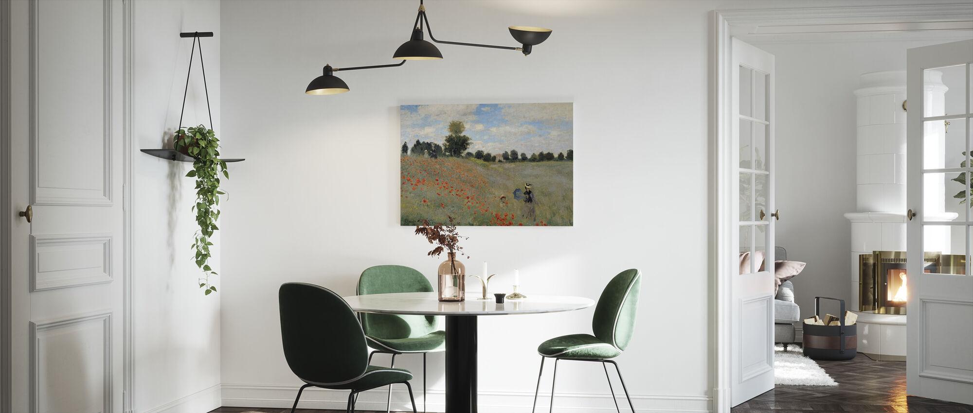 Vilda vallmo - Claude Monet - Canvastavla - Kök