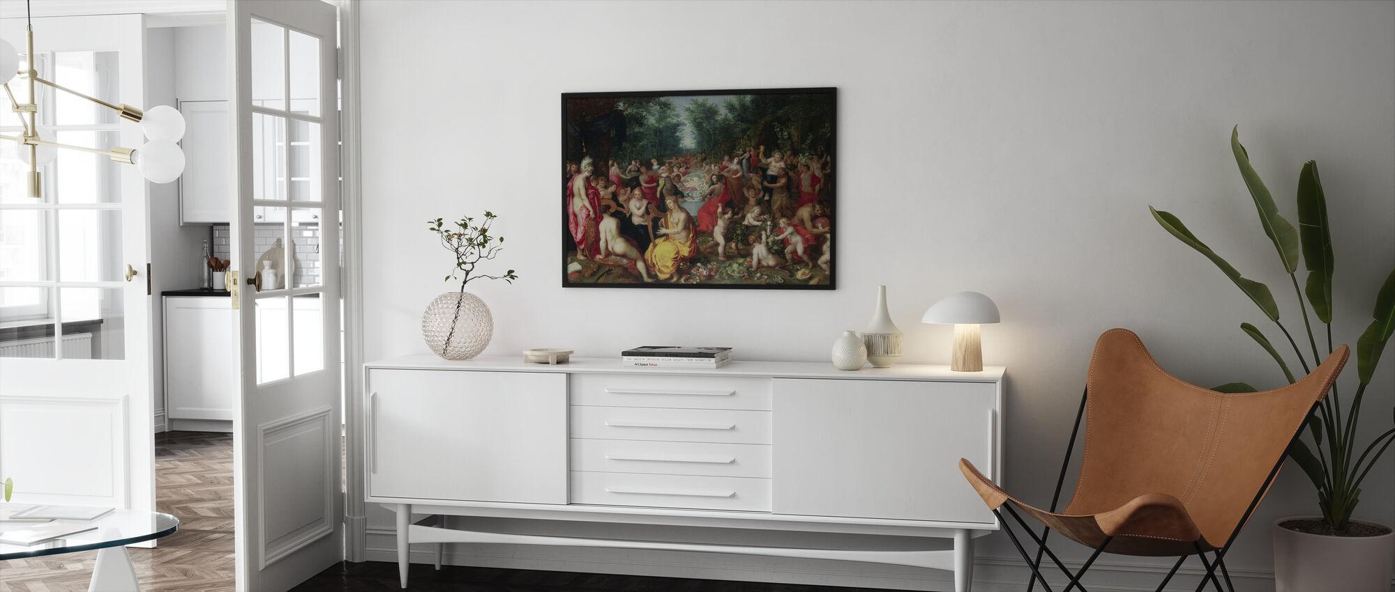 Feast of the Gods - Hendrik Balen - Framed print - Living Room