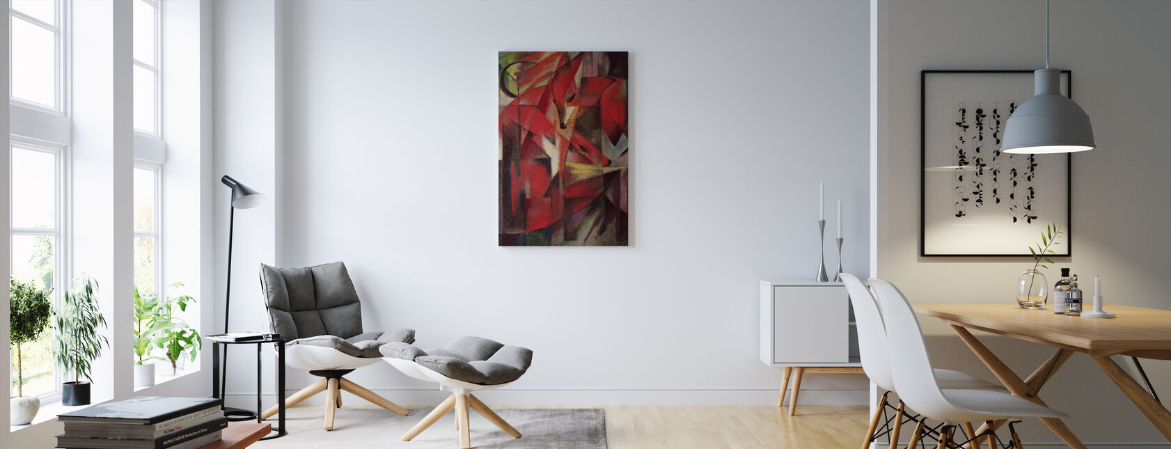 Foxes - Franz Marc - Canvas print - Living Room