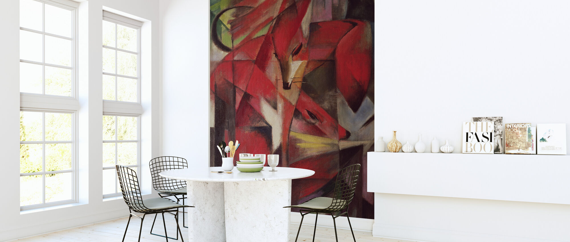 Foxes - Franz Marc - Wallpaper - Kitchen