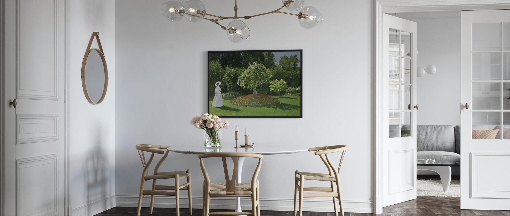 Woman in a Garden - Claude Monet - Framed print - Kitchen
