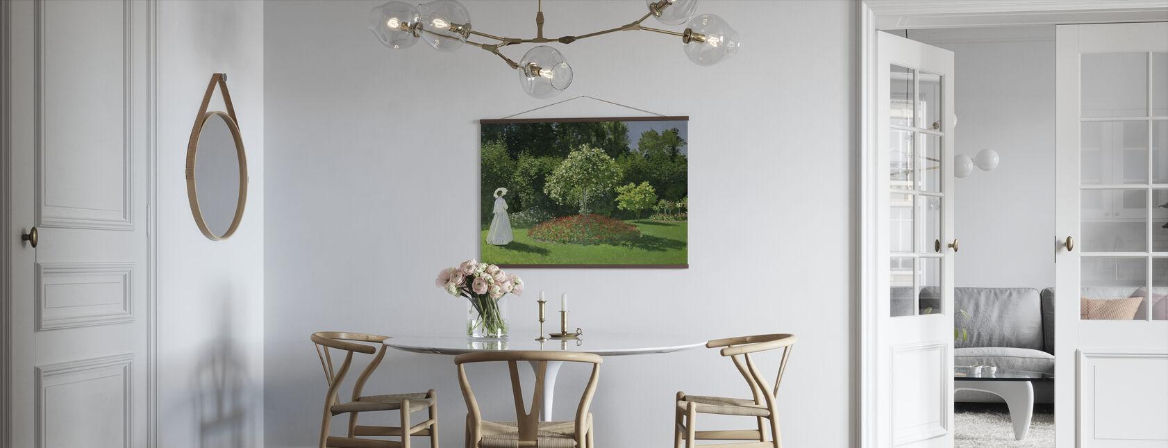 Kvinne i Hage - Claude Monet - Plakat - Kjøkken