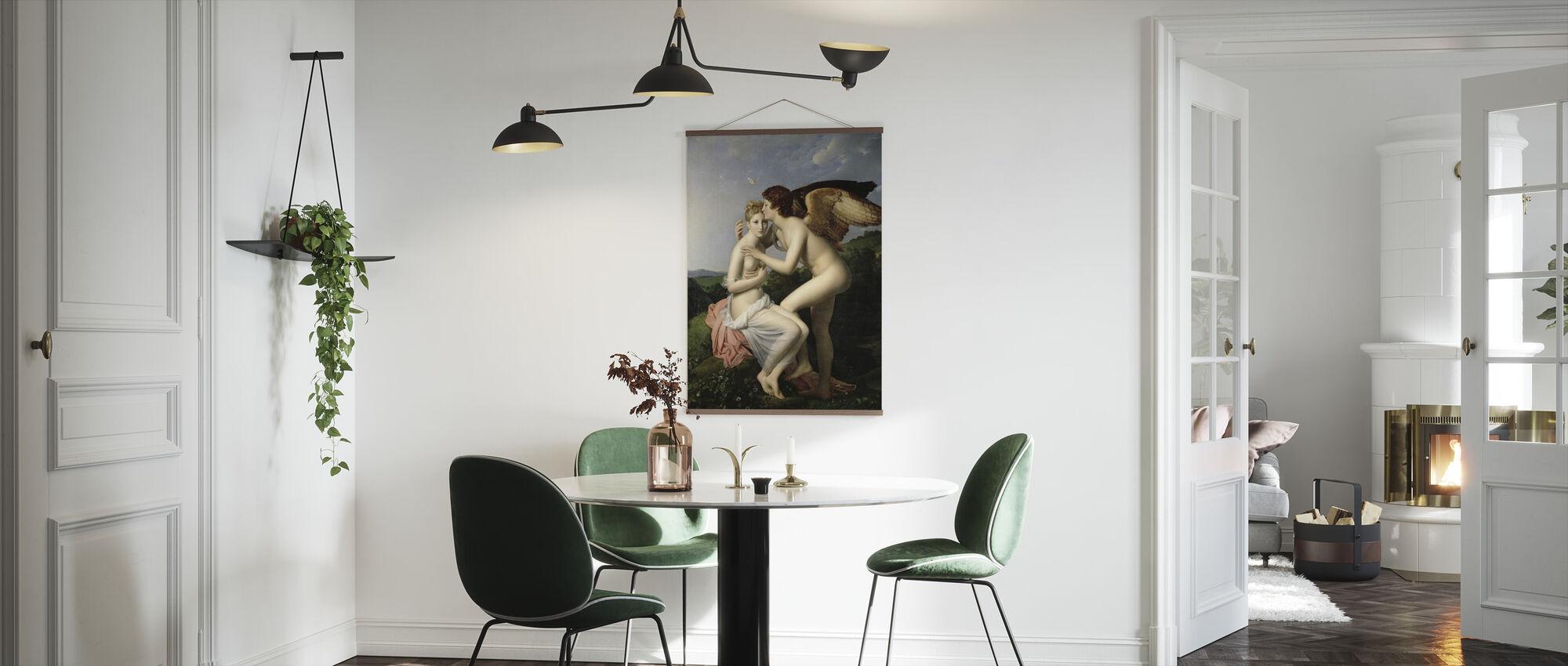 Eerste kus van Cupido - Francois Pascal Gérard - Poster - Keuken