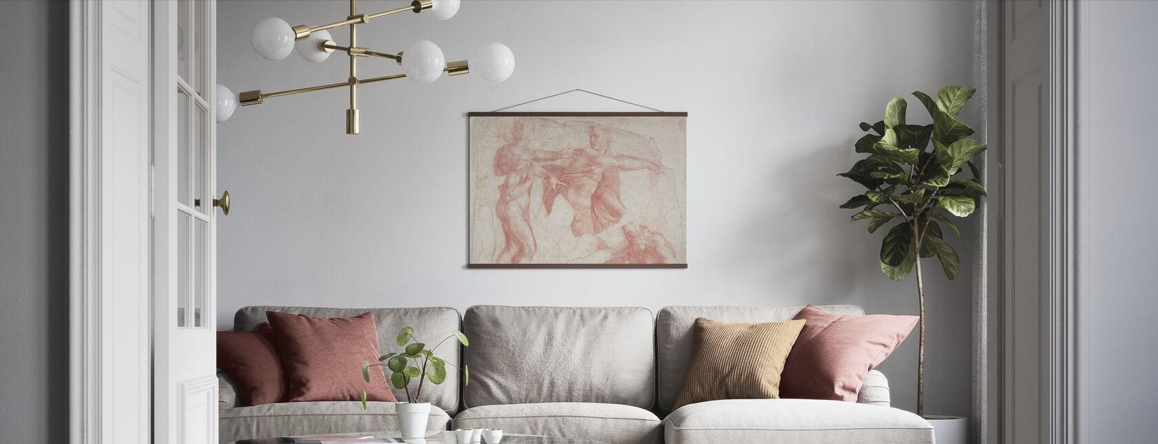 Studies of Male Nudes - Michelangelo Buonarroti - Poster - Living Room
