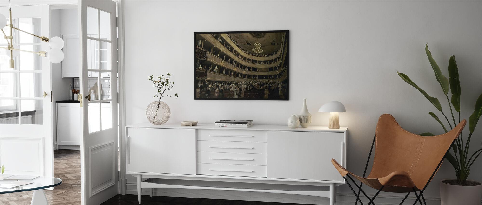 Old Castle Theatre - Gustav Klimt - Framed print - Living Room