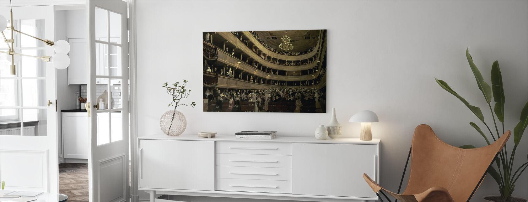 Oud kasteel Theater - Gustav Klimt - Canvas print - Woonkamer