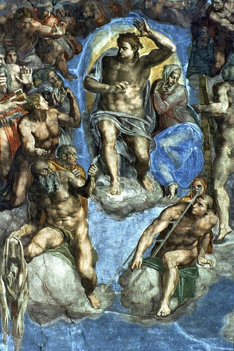 Last Judgement Michelangelo Buonarroti High Quality Wall