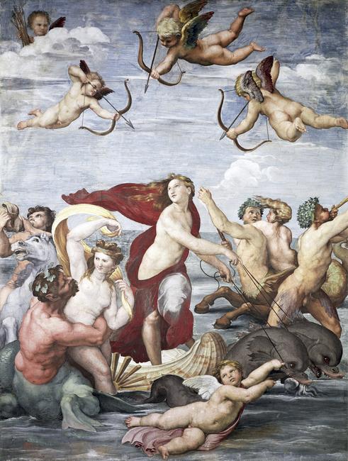 Triumph of Galatea - Raphael Fototapeter & Tapeter 100 x 100 cm