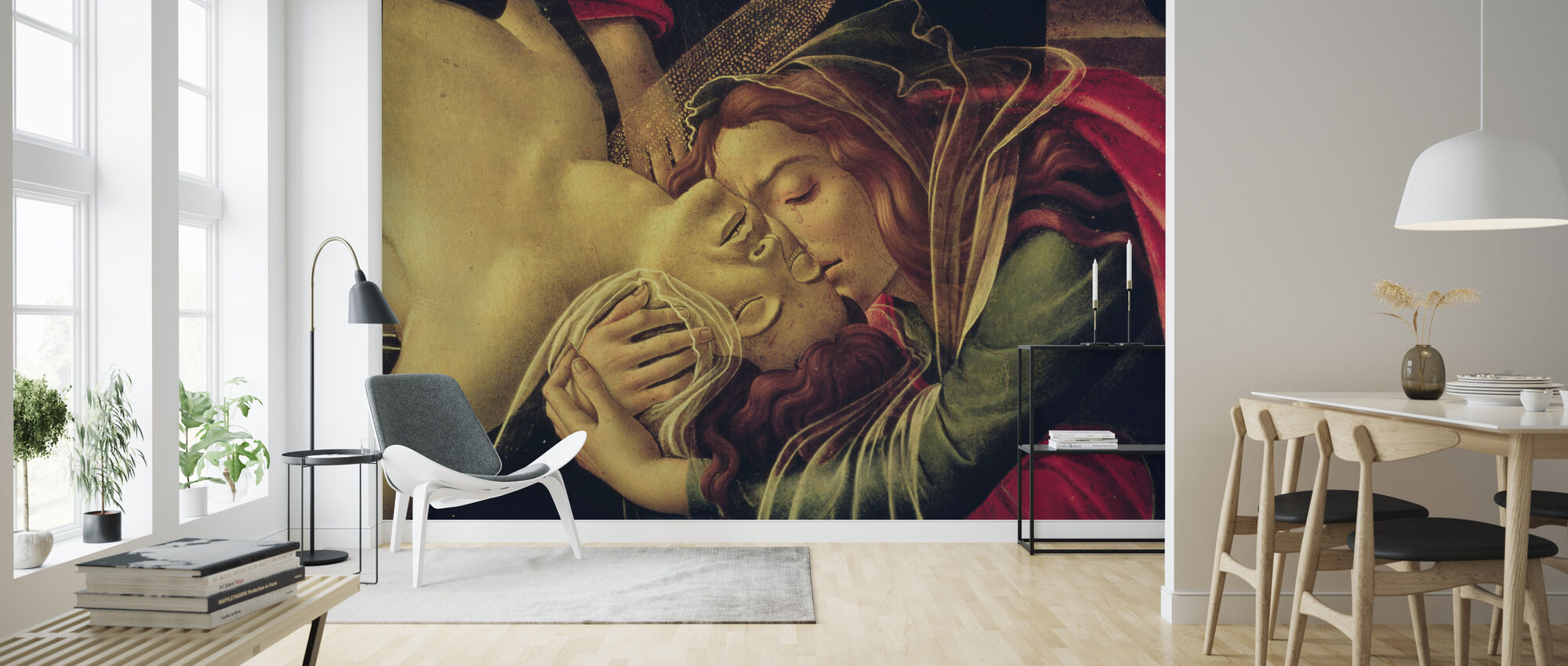 Lamentation of Christ - Sandro Botticelli - Wallpaper - Living Room
