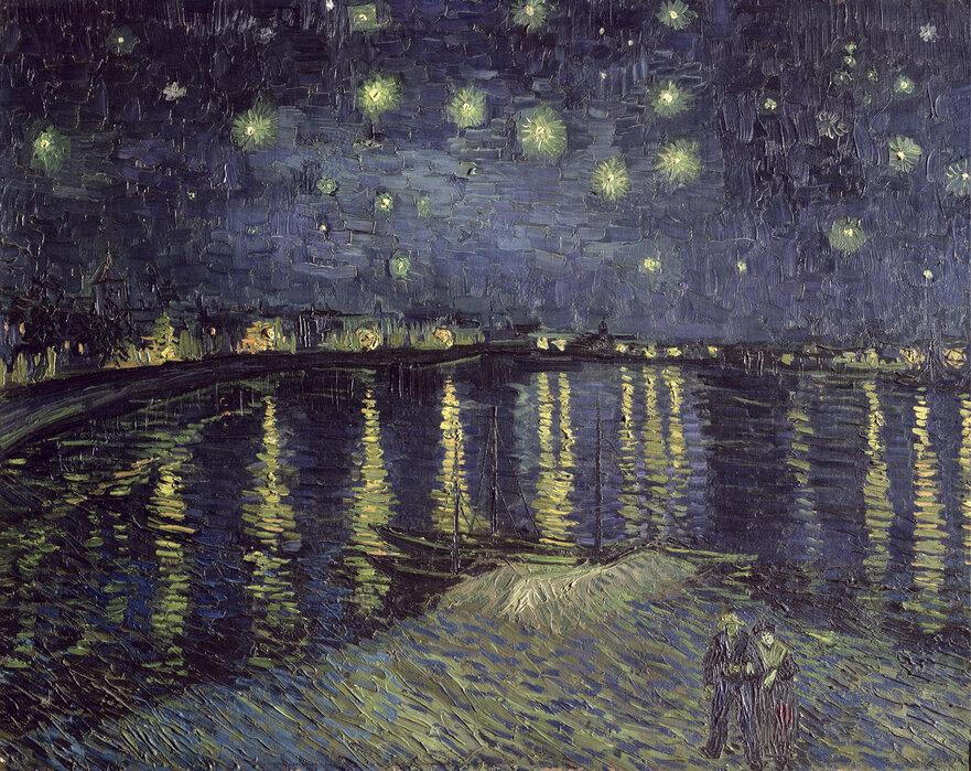 Van Gogh Behang : Korenveld met maaier behang van gogh bn wallcoverings