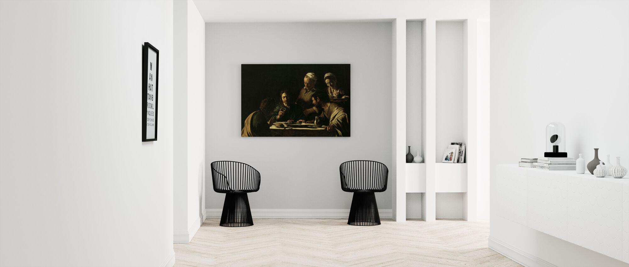 Supper at Emmaus - Michelangelo Caravaggio - Canvas print - Hallway