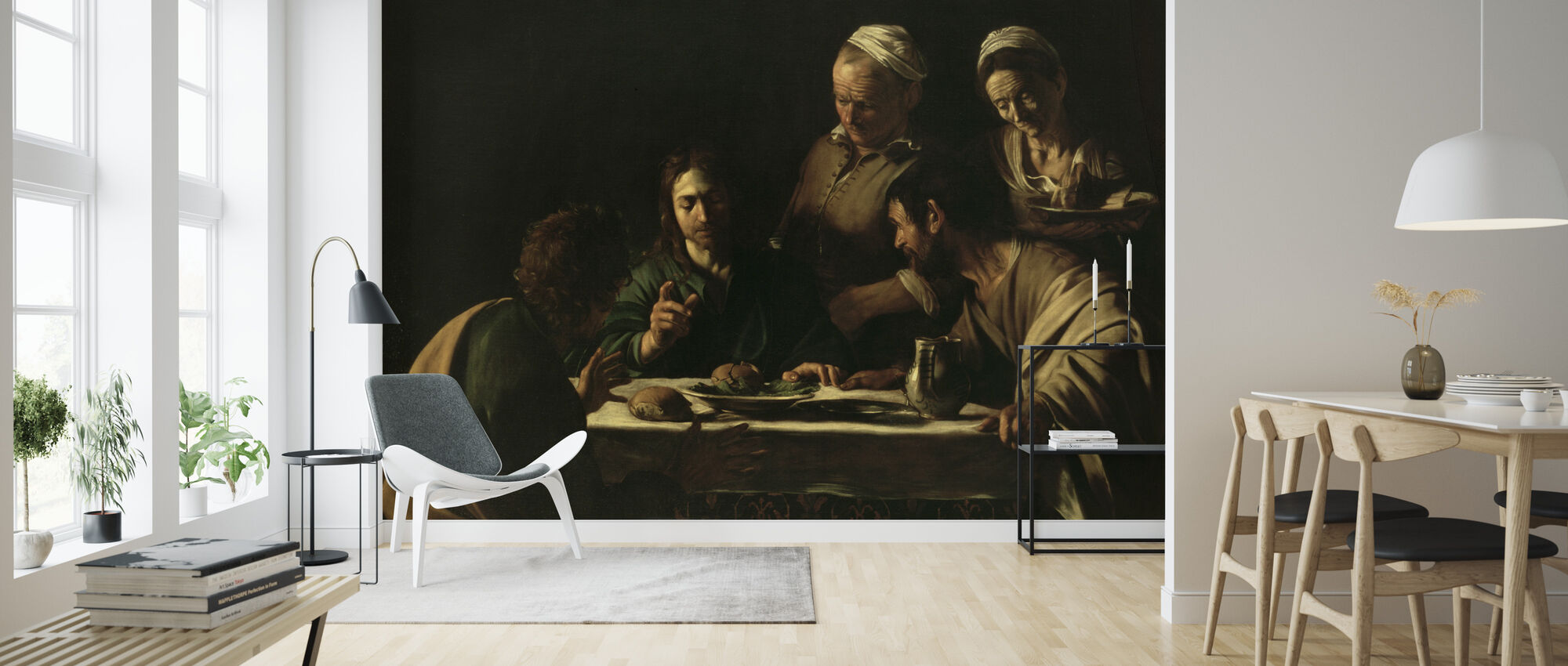 Supper at Emmaus - Michelangelo Caravaggio - Wallpaper - Living Room