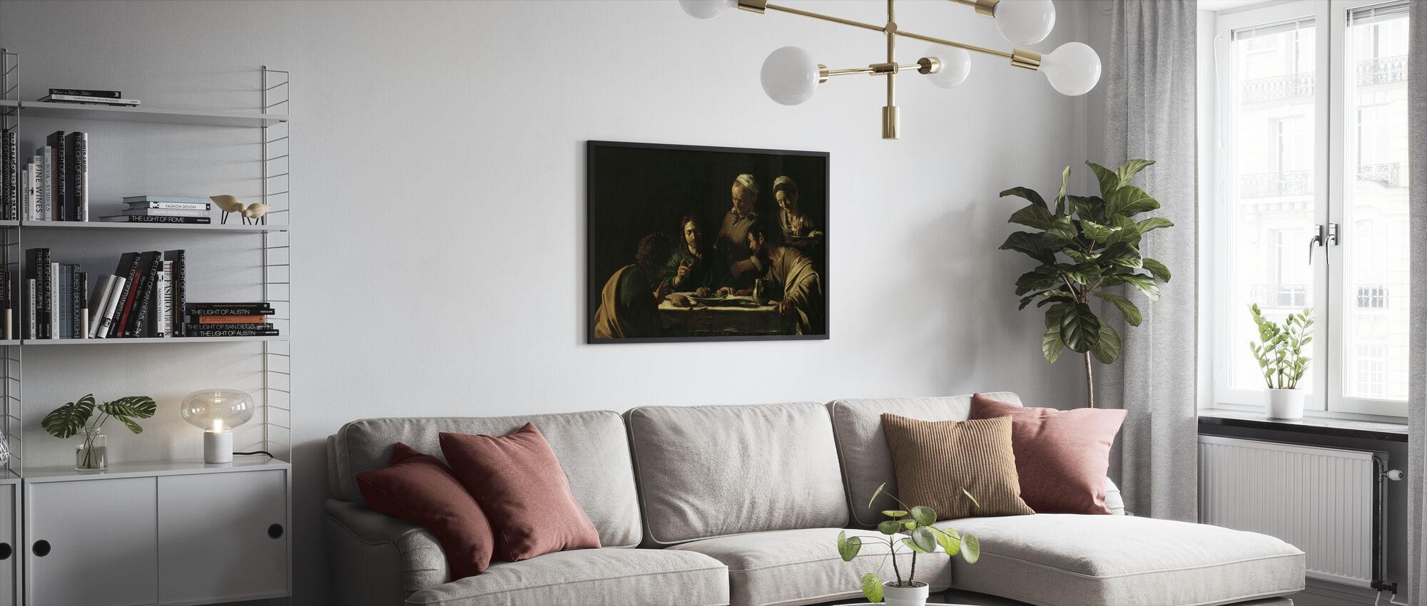 Supper at Emmaus - Michelangelo Caravaggio - Framed print - Living Room
