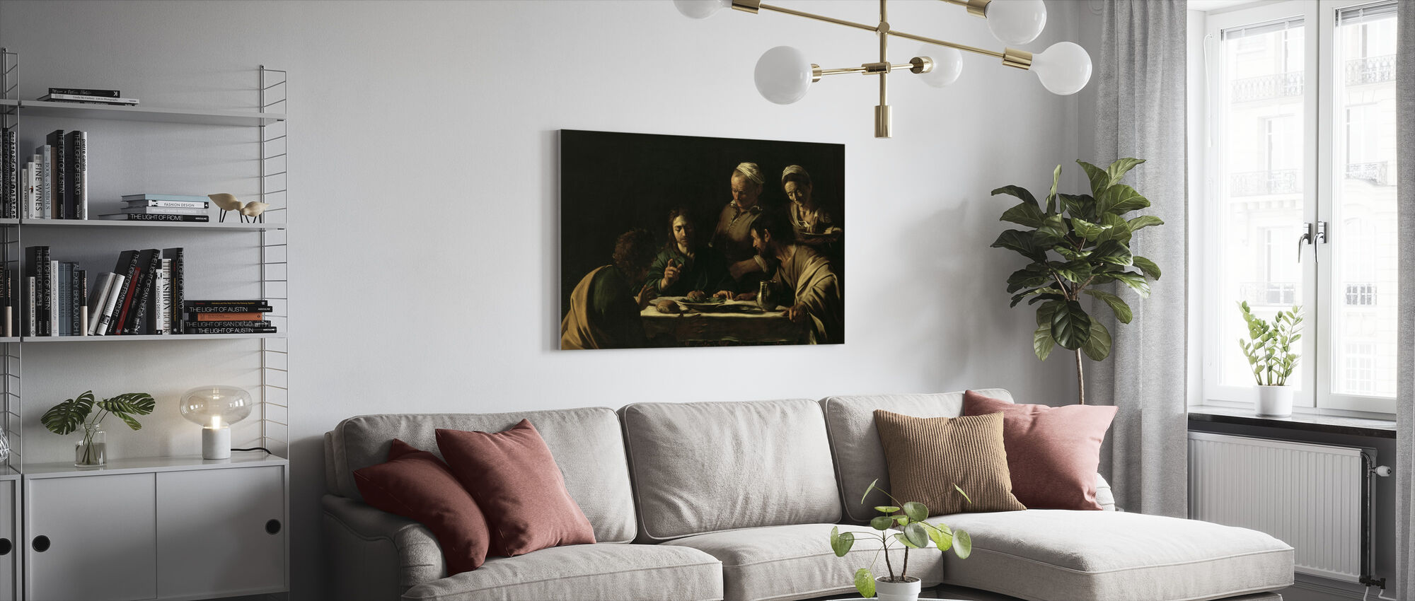Supper at Emmaus - Michelangelo Caravaggio - Canvas print - Living Room