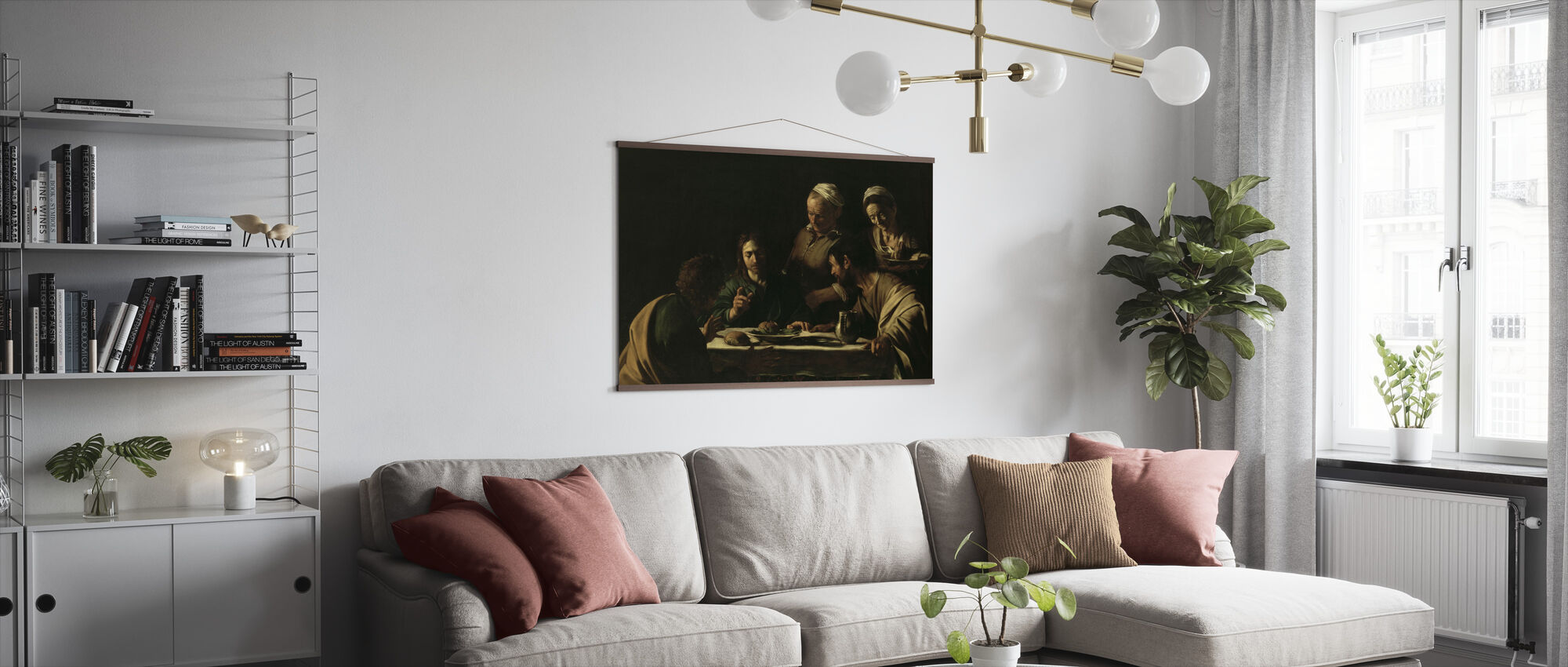 Supper at Emmaus - Michelangelo Caravaggio - Poster - Living Room