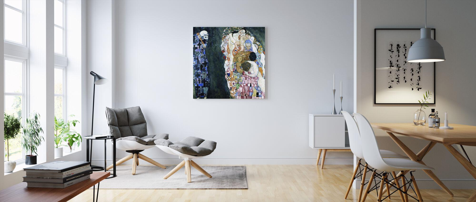 Død og Liv - Gustav Klimt - Billede på lærred - Stue