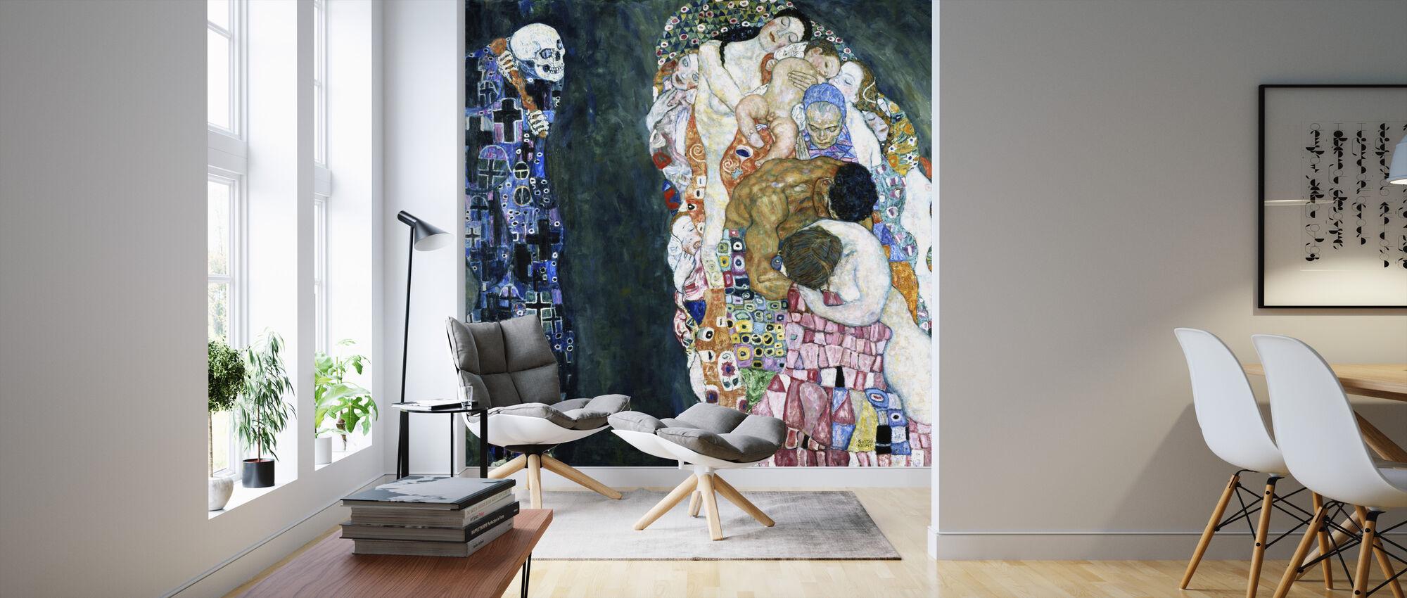 Mort et vie - Gustav Klimt - Papier peint - Salle à manger