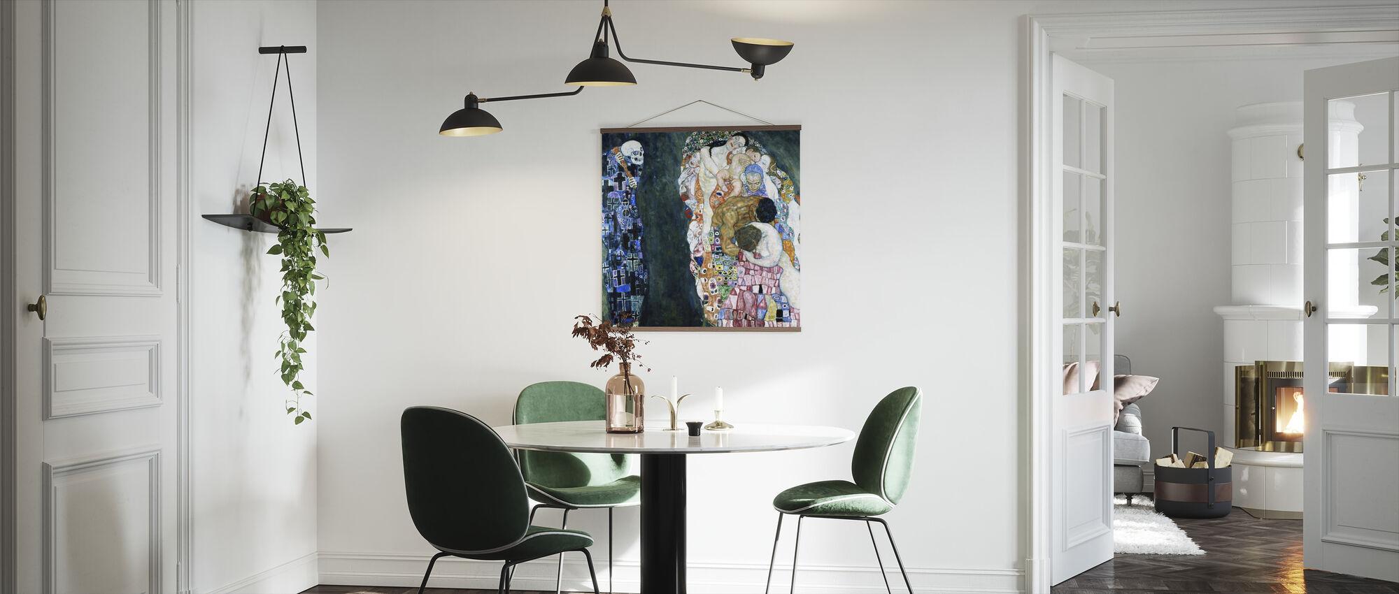 Død og Liv - Gustav Klimt - Plakat - Køkken