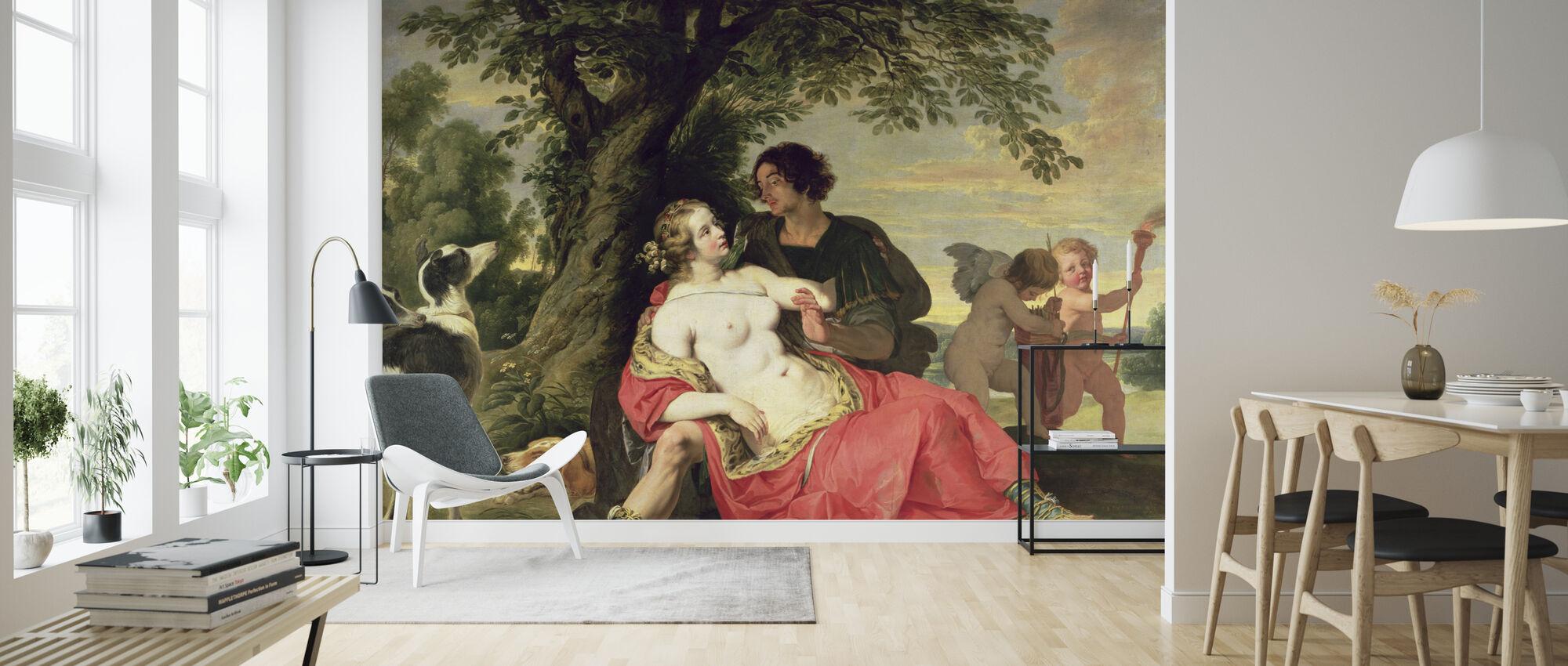 Venus en Adonis - Abraham Janssens - Behang - Woonkamer
