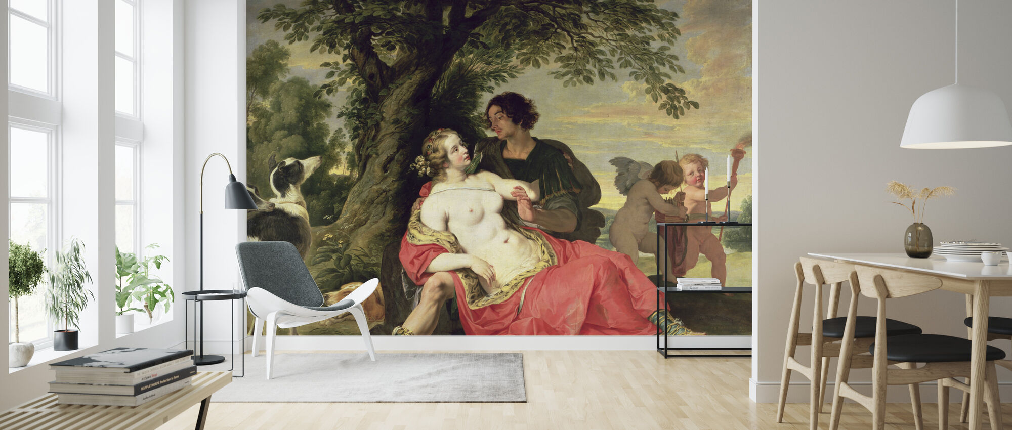 Venus and Adonis - Abraham Janssens - Wallpaper - Living Room