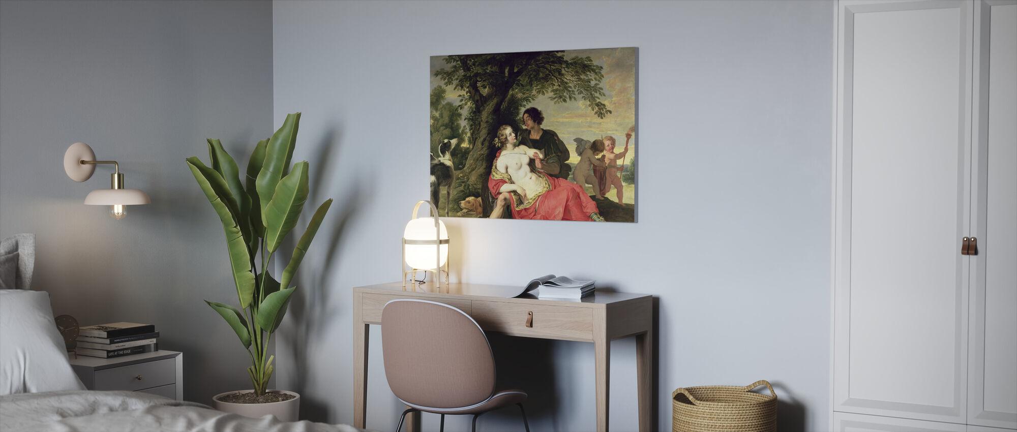 Venus og Adonis - Abraham Janssens - Lerretsbilde - Kontor