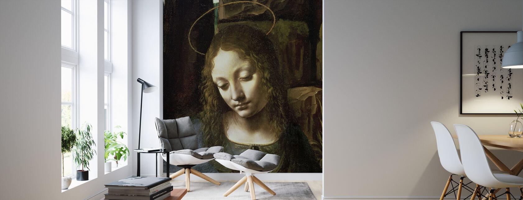Virgin of the Rocks - Leonardo da Vinci - Wallpaper - Living Room
