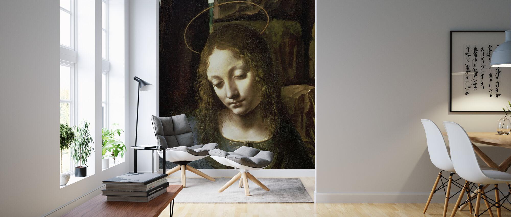 Kivien neitsyt - Leonardo da Vinci - Tapetti - Olohuone
