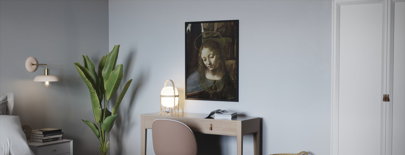 Virgin of the Rocks - Leonardo da Vinci - Framed print - Bedroom