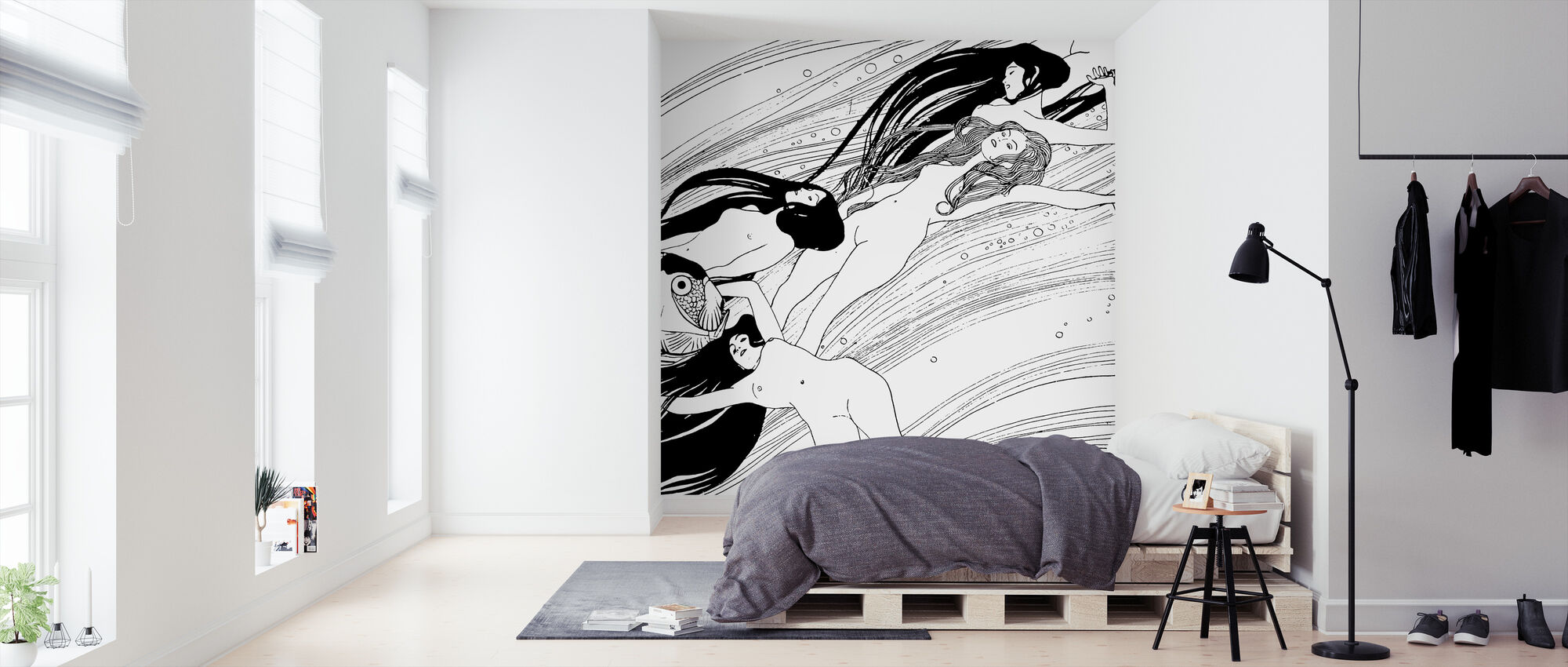 Blood of Fish - Gustav Klimt - Wallpaper - Bedroom