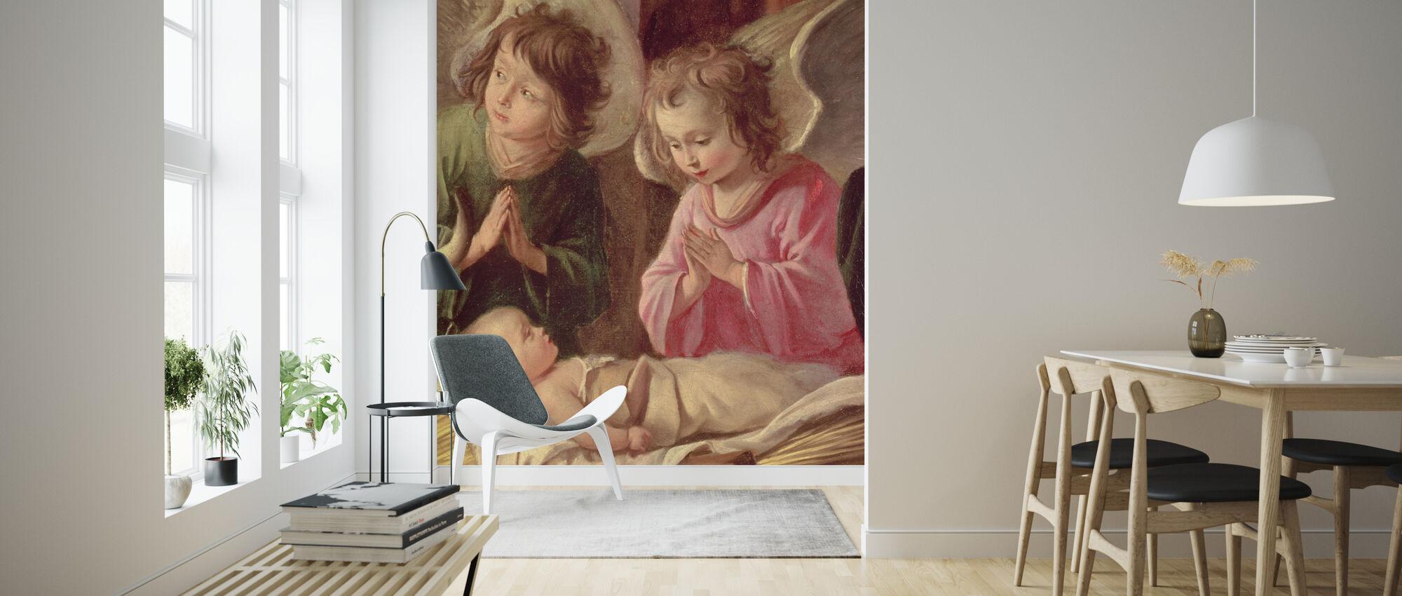 Adoration of the Shepherds - Antoine Le Nain - Wallpaper - Living Room